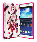For Samsung Galaxy Note 3 Feather Dream Catcher Hot Pink Slim Hybrid case cover