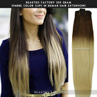 "BF 200gr Full Thick Ombre Clip in Remy Human Hair Extension 20"" Double Wefted"