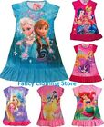 FROZEN Elsa Anna Girls Nightdress Nightie Dress Sleepover Sleepwear Pjs NEW