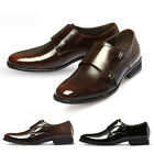 New MO32 Itlian Monk Strap Formal Mens Leather Slip on Dress Shoes Oxford Loafer