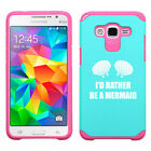 For Samsung Galaxy Core Grand Prime Shockproof Hard Case I'd Rather Be A Mermaid
