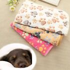 Warm Pet Mat Small Large Paw Print Dog Cat Puppy Fleece Soft Blanket Bed TXSU