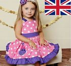 UK Stock Limited Sale New Baby Infant Girls Party Dress Pretty Cotton Dress