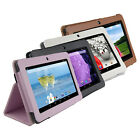 PU Leather Skin Case Cover for 7'' Dragon Touch Y88X iRulu A23 X1/ Vuru Tablet