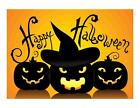 Custom Made T Shirt Happy Halloween Jack O Lanterns Pumpkins Witch Hat Scary