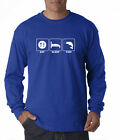 Fishing Eat Sleep Fish Funny Bass Fly River Trout Rod Long Sleeve T-Shirt S-3XL