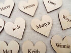 Wooden Personalised Hearts for Family Tree ,Wedding Guestbook,Name Hearts