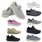 Womens Comfy Running Trainers Lace Up Fitness Sports Gym Ladies Shoes