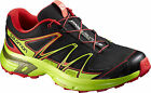 SALOMON WINGS FLYTE 2 SCARPE TRAIL RUNNING UOMO 379165 SHOES MAN BLACK GREEN