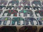 CHESS JUMBO ELEPHANTS MULTI WIPE CLEAN 100% COTTON PVC OILCLOTH VINYL TABLECLOTH