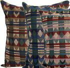 """MISSONI HOME ADEN UPHOLSTERY PILLOW COVER BROWN - BLUE - PINK 20""""x20"""""""