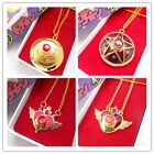 NEW Sailor Moon Metal Crystal Alloy Necklace Pendant Cosplay Prop Gift in BOX