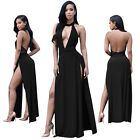 New Womens Sexy Black Backless Long Party Prom Dress Ladies Club Cocktail M-2XL