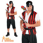 Adult Ahoy Matey Pirate Costume Mens Fancy Dress Captain Jack Outfit New