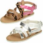 Girls Spot On Flat Slingback Strappy Sandal / Casual / Ankle Buckle