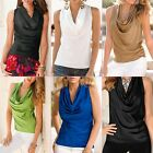 New Women Summer Vest Top Sleeveless Blouse Casual Tank Tops T-Shirt Blouse