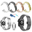 Stainless Steel Butterfly Lock Watch Strap + Tools For Apple Watch iWatch Band