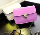 Women Vintage PU Leather Chain Satchel Crossbody Shoulder Bag Handbag Purse