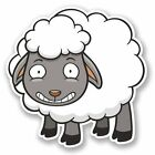 2 x Sheep Vinyl Sticker Laptop Travel Luggage Car #5724