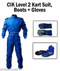 KART CIK Level 2 SUIT BOOTS GLOVES Package BLUE all ADULT sizes