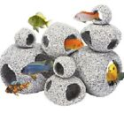 GRANITE STONE HIDEAWAY - Fish Aquarium Deco Aqua Rock dm Ornament Pet Reptile