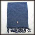Polo Ralph Lauren BIG PONY LAMBSWOOL Scarf 5 Color Navy Brown New Tags Authentic
