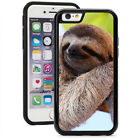 For iPhone X SE 5 5s 6 6s 7 8 Plus Shockproof Impact Hard Case 1547 Happy Sloth