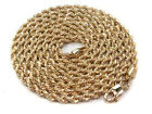 "Brand new Real 10k Yellow Gold   24"" 26"" 28"" Rope Chain 3mm Necklace"