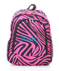 Personalized ZEBRA Black Pink LARGE School Bag Backpack Monogram Embroidery Name