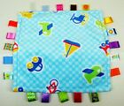 Taggies Blue Lovey Blanket Planes Cars Boat Bike Small Lets Go Size Security