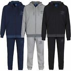 NEW ADIDAS ORIGINALS MEN FLEECE FULL TRACKSUIT TREFOIL SIZE S-XL GREY BLACK NAVY