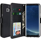 Clear Window Id Card Slot Pocket Slim Leather Wallet Case For Galaxy Iphone Lg