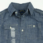 NWT New Polo Ralph Lauren Toddler Long Sleeve Chambray Casual Shirt SZ: 2/2T $55