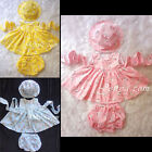 #CC7 HANDMADE Baby Toddler Girls Cats Print Summer Sun Flower Dress Clothes Set