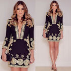 NEW Summer Womens Sexy Mini Dress V Neck Ladies Casual Clubwear Beach Sun Dress