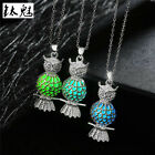 Women Silver Hollow Drop Necklace Pendant Luminous Glow Dark Glowing Jewlery
