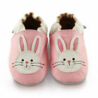 Pink Bunny Soft Leather Baby Shoes | Toddler Slippers Girls | Sizes 0 - 3 Years