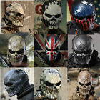 Military Tactical Airsoft Paintball Full Face Skull Skeleton CS Mask Halloween
