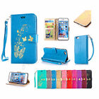 Hot Strap Pattern Leather Wallet Case Flip Card Pouch Cover For iPhone 5 5s 6 6s