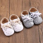 Newborn Toddler Kids Baby Boy Girl Soft Sole Crib Shoes