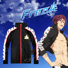 Cosplay Free! Iwatobi Swim Club Jacket Uniform Rin Matsuoka Anime Costume