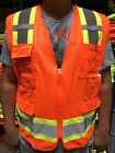 Внешний вид - Surveyor Orange Two Tones Safety Vest , ANSI/ ISEA 107-2015/ Photo ID Pocket