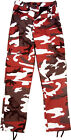 Red Camouflage Military BDU Cargo Bottoms Fatigue Trouser Camo Pants