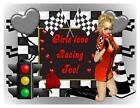 Custom Made T Shirt Girls Love Racing Too Sexy Woman Hearts Checked Flags