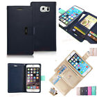 Comfort Magnetic Flip PU Leather Stand Multilayer Card Wallet Case For Room Phone