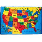 Kids Rug USA Map Children Area Rug - Non Skid Gel Backing All size