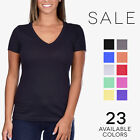 plastikote purple - Next Level Ideal V-Neck Tee Womens Soft Basic Plain T-Shirt 1540