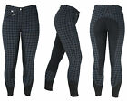 HyPERFORMANCE Harby Check Full Seat Ladies Horse Riding Breeches