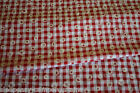 CUSTOM MADE - VW Camper Van Curtains - KITSCH DAISY GINGHAM - RED