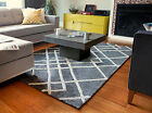 Anji Mountain Diamond Dogs Gray/Ivory Bamboo Viscose in sizes 5x7 8x12 9x10